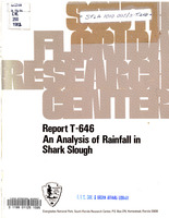 Analysis of Rainfall in Shark Slough