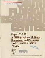 bibliography of schinus, melaleuca, and casuarina exotic genera in south Florida