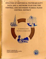 Analysis of historical water-quality data and description of plan for a sampling network in central and southern Florida
