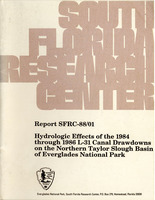 Hydrologic effects of the 1984 through 1986 L-31 canal drawdowns on the northern Taylor Slough basin of Everglades National Park