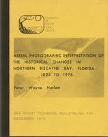 Aerial photographic interpretation of the historical changes in northern Biscayne Bay, Florida, 1925 to 1976