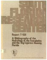 A bibliography of the hydrology of the Everglades and the Big Cypress Swamp, Florida