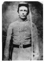 Photograph of Hugh Black in military uniform with saber