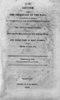 Letter from the Secretary of the Navy, transmitting, in obedience to a resolution of the House of Representatives of the twenty-sixth ultimo, sundry documents relating to the destruction of the Negro fort in East Florida in the month of July, 1816