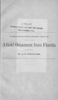 gold ornament from Florida