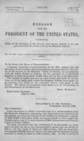 Message from the President of the United States, transmitting letter of the Secretary of the Interior and reports relative to the proposed purchase of certain land by the Seminole Indians