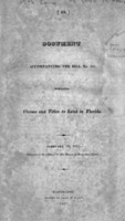 Document accompanying the bill no. 286, respecting claims and titles to land in Florida
