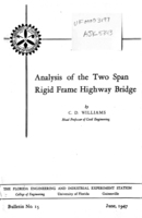 Analysis of the two span rigid frame highway bridge
