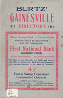 Burtz' Gainesville Directory 1913 comprising a complete directory of the business firms and private citizens, arranged alphabetically, miscell