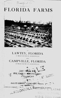 Florida farms at Lawtey, Florida, 35 miles south of Jacksonville and Campville, Florida, 60 miles south of Jacksonville, : the home of athe early strawberry and pecan