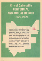 City of Gainesville centennial and annual report 1869-1969