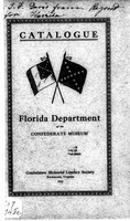 Catalogue of the Florida department of the confederate museum