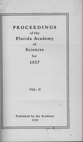 Proceedings of the Florida Academy of Sciences for 1937. Vol. 2