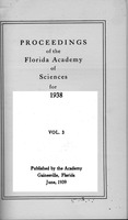 Proceedings of the Florida Academy of Sciences for 1938. Vol. 3