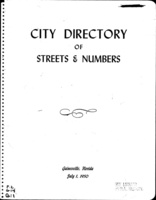 City Directory of Streets & Numbers: Gainesville, Florida July 1, 1950