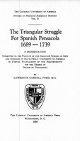 The triangular struggle for Spanish Pensacola, 1689-1739