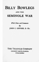 Billy Bowlegs and the Seminole war