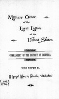 A loyal man in Florida, 1858-1861