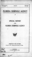 Florida Seminole agency: Special report of the Florida Seminole agency