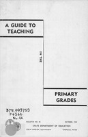 A guide to teaching in the primary grades