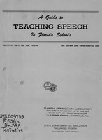 A guide to teaching speech in Florida schools