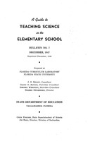 A guide to teaching science in the elementary school