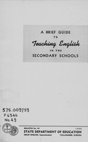 A brief guide to teaching English in the secondary schools