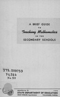 A Brief guide to teaching mathematics in the secondary schools