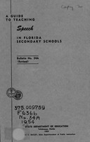A guide to teaching speech in Florida secondary schools