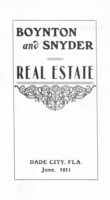 Boyton and Snyder Real Estate Dade City, FLA. June 1911 (242)