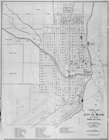 Official Map of the City of Miami & the Vicinity of Dade Co., FL (1220)