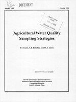 Agricultural water quality sampling strategies