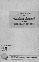 A brief guide to teaching Spanish in the secondary schools