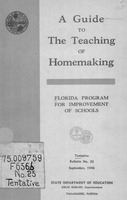A guide to the teaching of homemaking education