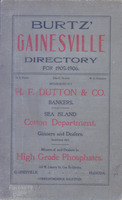 Burtz' Gainesville Directory for 1905-1906
