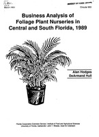 Business analysis of foliage plant nurseries in Central and South Florida