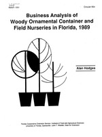 Business analysis of woody ornamental container and field nurseries in Florida