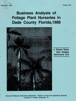 Business analysis of foliage plant nurseries in Dade County, Florida