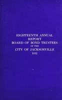 Annual report of the Board of Trustees for the Waterworks and Improvement Bonds of the city of Jacksonville, Florida