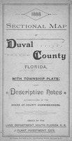 Sectional map of Duval County, Florida : with township plats and descriptive notes