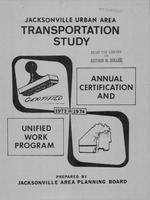 1973-1974 annual certification and unified work program for the Jacksonville urban area