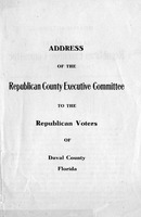 Address of the Republican County Executive Committee to the Republican voters of Duval County, Florida