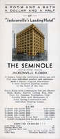 "Room and a bath, a dollar and a half at ""Jacksonville's leading hotel"" : the Seminole [brochure]"