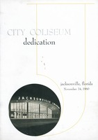 Program for the dedication of Jacksonville's new Coliseum