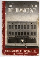1901-1941, fortieth anniversary, Afro-American Life Insurance Co., Jacksonville, Florida