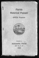 Florida historical pageant: official program, presented at Jacksonville, Florida, April 20-22, 1992