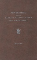 Advertising of the Barnett National Bank's 60th anniversary, 1877-1937