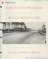 Official dedication program for Beach Boulevard and the B.B. McCormick Bridge