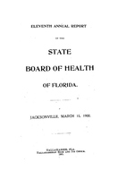 Annual report of the State Board of Health of Florida: 11th 1899