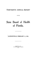 Annual report of the State Board of Health of Florida: 13th 1901